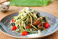 """Photo of Zenith Yoga Cafe  by <a href=""""/members/profile/Zenith%20Yoga%20Vietnam"""">Zenith Yoga Vietnam</a> <br/>Raw Zucchini Pasta <br/> November 9, 2016  - <a href='/contact/abuse/image/41001/187639'>Report</a>"""