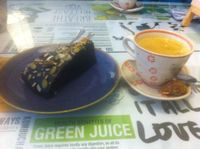 """Photo of Zenith Yoga Cafe  by <a href=""""/members/profile/Hellavegan"""">Hellavegan</a> <br/>vegan dark chocolate cake <br/> March 14, 2014  - <a href='/contact/abuse/image/41001/65862'>Report</a>"""