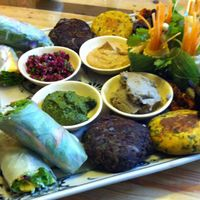 """Photo of Zenith Yoga Cafe  by <a href=""""/members/profile/beancurdled"""">beancurdled</a> <br/>appetiser platter <br/> March 29, 2015  - <a href='/contact/abuse/image/41001/97324'>Report</a>"""