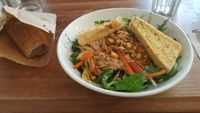 """Photo of Black Cat  by <a href=""""/members/profile/Clare"""">Clare</a> <br/>Pad Thai with polenta <br/> March 12, 2017  - <a href='/contact/abuse/image/41511/235430'>Report</a>"""