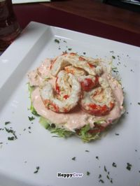 """Photo of CLOSED: LoVeg  by <a href=""""/members/profile/BlisterBlue"""">BlisterBlue</a> <br/>Fried 'prawns' with garlic sauce <br/> November 17, 2013  - <a href='/contact/abuse/image/42145/58635'>Report</a>"""