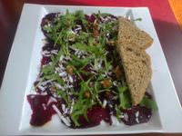 """Photo of CLOSED: LoVeg  by <a href=""""/members/profile/papanda"""">papanda</a> <br/>Beetroot carpaccio with vegan mozzarella at loVeg <br/> April 27, 2014  - <a href='/contact/abuse/image/42145/68721'>Report</a>"""