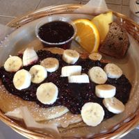 """Photo of Evolution Bakery and Cafe  by <a href=""""/members/profile/Pastelito"""">Pastelito</a> <br/>awsome vegan pancakes <br/> April 30, 2016  - <a href='/contact/abuse/image/43352/146887'>Report</a>"""