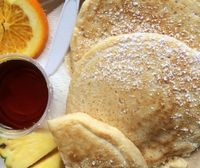 """Photo of Evolution Bakery and Cafe  by <a href=""""/members/profile/rkem18"""">rkem18</a> <br/>The pancakes were amazing and they use real maple syrup! <br/> May 1, 2014  - <a href='/contact/abuse/image/43352/199412'>Report</a>"""