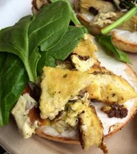 """Photo of Evolution Bakery and Cafe  by <a href=""""/members/profile/rkem18"""">rkem18</a> <br/>The Ghandi breakfast sandwich. Soooo good! <br/> May 1, 2014  - <a href='/contact/abuse/image/43352/199413'>Report</a>"""