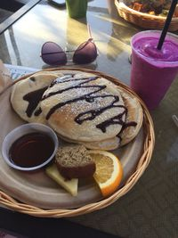 """Photo of Evolution Bakery and Cafe  by <a href=""""/members/profile/Eclarkwsu"""">Eclarkwsu</a> <br/>Chocolate Chip Pancakes & a Dragonfruit Smoothie = Heaven! <br/> January 17, 2018  - <a href='/contact/abuse/image/43352/347680'>Report</a>"""