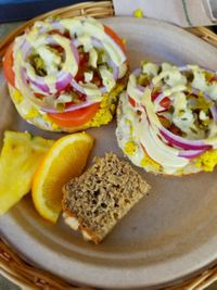 """Photo of Evolution Bakery and Cafe  by <a href=""""/members/profile/Vegan.Shay"""">Vegan.Shay</a> <br/>southwestern bagel  <br/> January 20, 2018  - <a href='/contact/abuse/image/43352/348676'>Report</a>"""