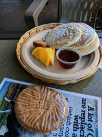 """Photo of Evolution Bakery and Cafe  by <a href=""""/members/profile/mrrfrost"""">mrrfrost</a> <br/>pancakes with macadamia nuts <br/> February 20, 2018  - <a href='/contact/abuse/image/43352/361839'>Report</a>"""