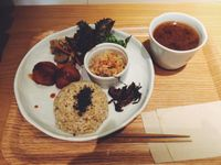 "Photo of LIMA - Shinjuku  by <a href=""/members/profile/jillybean3"">jillybean3</a> <br/>Original Plate. With kabocha croquette, root vegetable kinpira, stewed dried daikon, brown rice, and pickles. (Oct. 2014) <br/> March 16, 2015  - <a href='/contact/abuse/image/43583/95846'>Report</a>"
