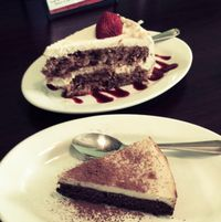 """Photo of Green Leaf  by <a href=""""/members/profile/VeganVegabond"""">VeganVegabond</a> <br/>vegan deliciousness! tiramisu brownie and carrot cake <br/> July 25, 2016  - <a href='/contact/abuse/image/44678/162298'>Report</a>"""
