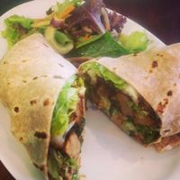 """Photo of Green Leaf  by <a href=""""/members/profile/mgonyeo"""">mgonyeo</a> <br/>BBQ seitan wrap  <br/> May 24, 2014  - <a href='/contact/abuse/image/44678/70679'>Report</a>"""