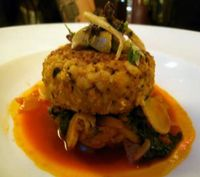 "Photo of Candle 79  by <a href=""/members/profile/quarrygirl"">quarrygirl</a> <br/>moroccan spiced chickpea cake: seasonal vegetables, red pepper-coconut curry, ginger-apricot-date chutney, toasted almonds <br/> December 26, 2011  - <a href='/contact/abuse/image/4849/189325'>Report</a>"