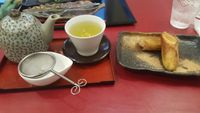 "Photo of Art Cafe ELK  by <a href=""/members/profile/FT"">FT</a> <br/>Banana spring roll and sencha tea <br/> April 21, 2016  - <a href='/contact/abuse/image/48571/145551'>Report</a>"
