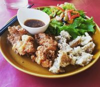 "Photo of Art Cafe ELK  by <a href=""/members/profile/vegginjapan"">vegginjapan</a> <br/>from their new menu vegan karaage <br/> August 21, 2017  - <a href='/contact/abuse/image/48571/295032'>Report</a>"