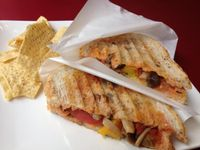 "Photo of Art Cafe ELK  by <a href=""/members/profile/kylaah"">kylaah</a> <br/>Vegetarian Panini, no cheese (vegan) <br/> July 11, 2014  - <a href='/contact/abuse/image/48571/73774'>Report</a>"