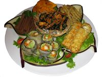 Photo of Ambrosia Veggie House  by Ambrosia Veggie <br/>Appetizer platter, by special order only.  <br/> August 12, 2014  - <a href='/contact/abuse/image/48757/76812'>Report</a>