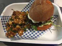 "Photo of HappyFood by YogaHub  by <a href=""/members/profile/Lauraprattman"">Lauraprattman</a> <br/>Sweet potato and black bean burger with BBQ cauliflower  <br/> September 20, 2017  - <a href='/contact/abuse/image/50332/306349'>Report</a>"