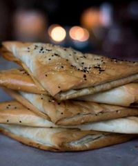 """Photo of Roni's Kitchen  by <a href=""""/members/profile/RonisKitchen"""">RonisKitchen</a> <br/>Burekas Pastry- with vegan almond feta, roasted eggplant, mint and zaatar spice <br/> July 8, 2015  - <a href='/contact/abuse/image/52840/108590'>Report</a>"""
