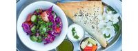 """Photo of Roni's Kitchen  by <a href=""""/members/profile/RonisKitchen"""">RonisKitchen</a> <br/>Burekas- vegan almond feta, roasted eggplant, mint and zaatar spice <br/> July 8, 2015  - <a href='/contact/abuse/image/52840/108592'>Report</a>"""