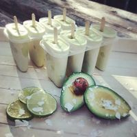 """Photo of Roni's Kitchen  by <a href=""""/members/profile/RonisKitchen"""">RonisKitchen</a> <br/>Avocado-Coconut-Lime Popsicles <br/> July 8, 2015  - <a href='/contact/abuse/image/52840/108597'>Report</a>"""
