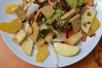 "Photo of Gasthaus am Predigtstuhl  by <a href=""/members/profile/Marcozaid"">Marcozaid</a> <br/>Raw salad with nuts, fruits and sauteed tofu  <br/> June 14, 2016  - <a href='/contact/abuse/image/53879/153941'>Report</a>"