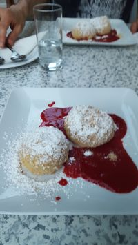 "Photo of Gasthaus am Predigtstuhl  by <a href=""/members/profile/ElenaBre"">ElenaBre</a> <br/>vegan sweet dumplings <br/> July 26, 2016  - <a href='/contact/abuse/image/53879/162377'>Report</a>"