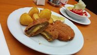 "Photo of Gasthaus am Predigtstuhl  by <a href=""/members/profile/Marcozaid"">Marcozaid</a> <br/>Vegan Cordon Bleu with sauteed potatoes and salad <br/> January 20, 2015  - <a href='/contact/abuse/image/53879/90876'>Report</a>"