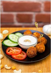 "Photo of Vegan Inspiratsioon  by <a href=""/members/profile/KohvikInspiratsioon"">KohvikInspiratsioon</a> <br/>Vegan falafels with garlic cashew sauce <br/> November 3, 2015  - <a href='/contact/abuse/image/54262/123726'>Report</a>"