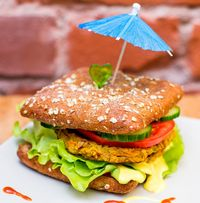 "Photo of Vegan Inspiratsioon  by <a href=""/members/profile/KohvikInspiratsioon"">KohvikInspiratsioon</a> <br/>Vegan burger <br/> November 4, 2015  - <a href='/contact/abuse/image/54262/237692'>Report</a>"