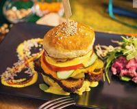 "Photo of Vegan Inspiratsioon  by <a href=""/members/profile/KohvikInspiratsioon"">KohvikInspiratsioon</a> <br/>Christmas burger with lentil meatloaf and beetroot-potatoe salad <br/> December 8, 2016  - <a href='/contact/abuse/image/54262/237693'>Report</a>"