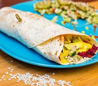 "Photo of Vegan Inspiratsioon  by <a href=""/members/profile/KohvikInspiratsioon"">KohvikInspiratsioon</a> <br/>Vegan wrap for which you can choose beetroot, carrot or pumpkin cutlet <br/> November 3, 2015  - <a href='/contact/abuse/image/54262/237705'>Report</a>"