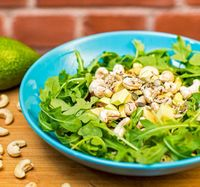 "Photo of Vegan Inspiratsioon  by <a href=""/members/profile/KohvikInspiratsioon"">KohvikInspiratsioon</a> <br/>Avocado, rucola and cashew salad <br/> November 3, 2015  - <a href='/contact/abuse/image/54262/237706'>Report</a>"