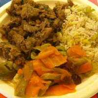 """Photo of La Gastronomia Veg  by <a href=""""/members/profile/hokusai77"""">hokusai77</a> <br/>carrots and leek, basmati rice and seitan <br/> March 21, 2015  - <a href='/contact/abuse/image/54453/96398'>Report</a>"""