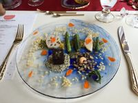 """Photo of Tudore Tranquility  by <a href=""""/members/profile/paulkates"""">paulkates</a> <br/>Assorted vegetable plate - I'm not sure the pic does it justice. Everything was delicious - especially the mushroom cube <br/> July 27, 2016  - <a href='/contact/abuse/image/59980/162572'>Report</a>"""