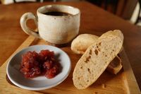 """Photo of En.Gawa  by <a href=""""/members/profile/LisaCupcake"""">LisaCupcake</a> <br/>A breakfast at en.gawa: toasted homemade bread with homemade low-sugar strawberry jam and coffee served in a locally made rustic mug (can potentially be purchased at nearby pottery works) <br/> August 17, 2015  - <a href='/contact/abuse/image/61925/113946'>Report</a>"""