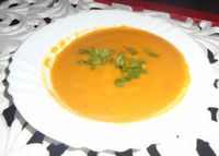 """Photo of Casa El Delfin   by <a href=""""/members/profile/casaeldelfincuba"""">casaeldelfincuba</a> <br/>Tasty Carrot and Ginger soup <br/> February 11, 2016  - <a href='/contact/abuse/image/63542/135815'>Report</a>"""