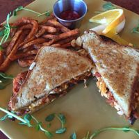 "Photo of Go Vegan Cafe  by <a href=""/members/profile/Jenny20124"">Jenny20124</a> <br/>eggplant sandwich <br/> January 4, 2016  - <a href='/contact/abuse/image/65093/131085'>Report</a>"