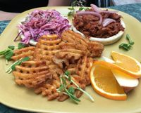 "Photo of Go Vegan Cafe  by <a href=""/members/profile/Tiger111333999"">Tiger111333999</a> <br/>pulled back burger <br/> March 3, 2016  - <a href='/contact/abuse/image/65093/208158'>Report</a>"