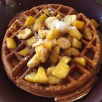 "Photo of Go Vegan Cafe  by <a href=""/members/profile/AshleighWhitworth"">AshleighWhitworth</a> <br/>waffle with tropical fruit (mango, pineapple, banana & coconut) <br/> April 3, 2017  - <a href='/contact/abuse/image/65093/244391'>Report</a>"