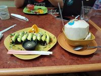 "Photo of Go Vegan Cafe  by <a href=""/members/profile/djvdorp"">djvdorp</a> <br/>Fiery Dragon Sushi and young coconut <br/> June 19, 2017  - <a href='/contact/abuse/image/65093/271106'>Report</a>"