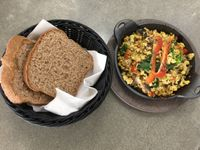 "Photo of Screaming Carrots  by <a href=""/members/profile/guybraverman"">guybraverman</a> <br/>organic tofu scramble with homemade wholewheat bread <br/> January 31, 2016  - <a href='/contact/abuse/image/69039/134354'>Report</a>"