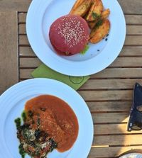 "Photo of Vegan's Prague  by <a href=""/members/profile/janakup"">janakup</a> <br/>Lentil Burger & Zucchini Lasagne <br/> August 31, 2016  - <a href='/contact/abuse/image/71531/237525'>Report</a>"