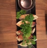 """Photo of CLOSED: Re:Nature Organic Cafe  by <a href=""""/members/profile/Starinarose"""">Starinarose</a> <br/>gyoza 800yen <br/> October 27, 2016  - <a href='/contact/abuse/image/72435/184670'>Report</a>"""