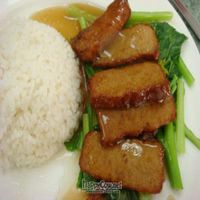 """Photo of Water Lily Restaurant  by <a href=""""/members/profile/veganmiam"""">veganmiam</a> <br/>Soy Duck with Rice <br/> April 11, 2009  - <a href='/contact/abuse/image/7264/1736'>Report</a>"""