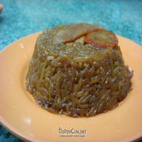 """Photo of Water Lily Restaurant  by <a href=""""/members/profile/veganmiam"""">veganmiam</a> <br/>Glutinous Rice. It may look undoubtedly strange--but for me, it tasted fabulous with soy chicken and it wasn't so greasy! <br/> April 11, 2009  - <a href='/contact/abuse/image/7264/1737'>Report</a>"""