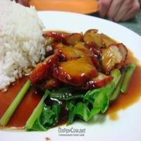 """Photo of Water Lily Restaurant  by <a href=""""/members/profile/veganmiam"""">veganmiam</a> <br/>Bbq Pork with Rice. Saucy and delicious <br/> April 11, 2009  - <a href='/contact/abuse/image/7264/1738'>Report</a>"""