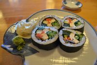 "Photo of Cha Ya  by <a href=""/members/profile/alexandra_vegan"">alexandra_vegan</a> <br/> Vegan Sushi (full roll) in the dinner menu <br/> June 19, 2016  - <a href='/contact/abuse/image/7274/154746'>Report</a>"