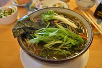 "Photo of Cha Ya  by <a href=""/members/profile/alexandra_vegan"">alexandra_vegan</a> <br/> Sansai Noodle Soup in the dinner menu <br/> June 19, 2016  - <a href='/contact/abuse/image/7274/154747'>Report</a>"