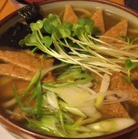 "Photo of Cha Ya  by <a href=""/members/profile/lolacooks"">lolacooks</a> <br/>seasoned tofu skin udon noodle soup <br/> August 12, 2016  - <a href='/contact/abuse/image/7274/168011'>Report</a>"