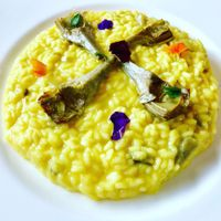 """Photo of Mater Terrae at Hotel Raphael  by <a href=""""/members/profile/josephsuar"""">josephsuar</a> <br/>Risotto with Artichoke  <br/> March 18, 2018  - <a href='/contact/abuse/image/74105/372605'>Report</a>"""